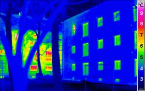 termowizja budynku mieszkalnego